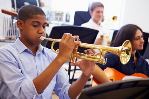 Students, Classroom, Orchestra, Trumpet, Band, Indoor Air Quality, Green Air Environmental, Chemical-Free, Coil Cleaning, HVAC, AHU, Sustainability, Green Building