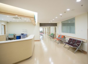 Healthcare, Hospital, Green Building, Green Air Environmental, HVAC, Indoor Air Quality, Receptionist, Desk, Waiting area
