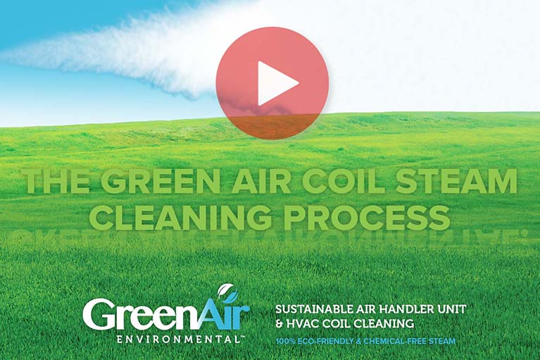Green Air - AHU Coil Steam Cleaning Process Video